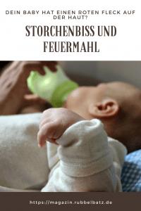 Storchenbiss oder Feuermal: Rote Flecken am Kopf vom Baby