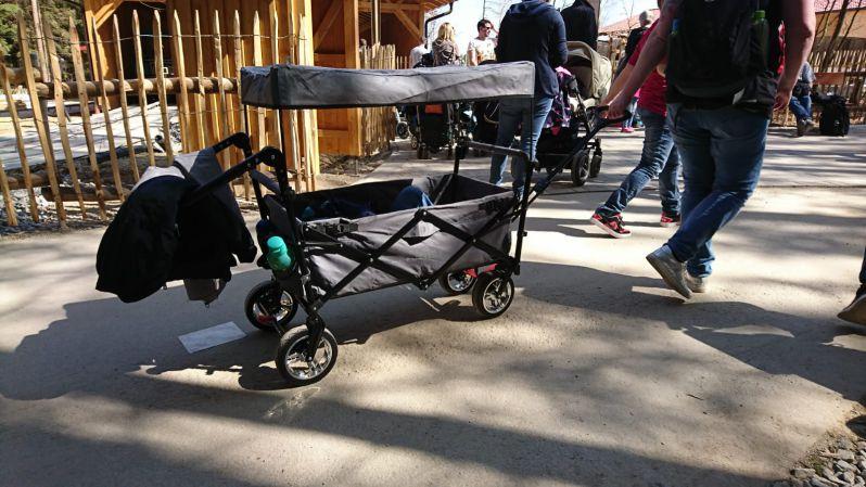 Fuxtec Bollerwagen CT 500 für den Kindertransport mit Sonnendach