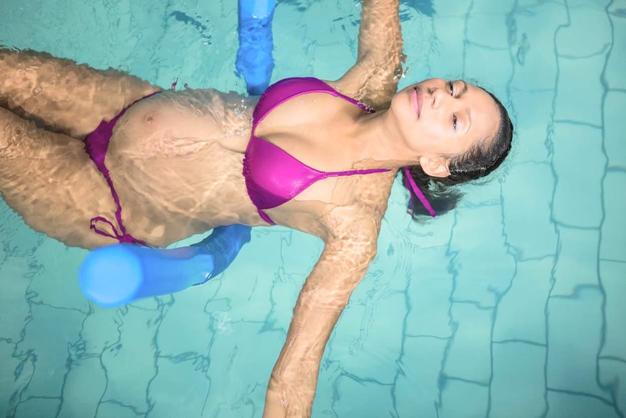 Schwimmen während der regel ohne tampon