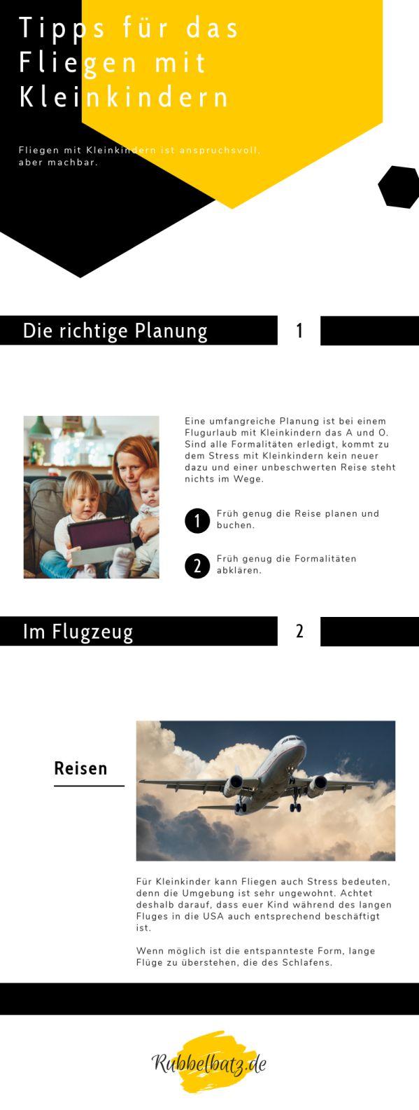 Flugreisen mit Kleinkindern sind immer eine Herausforderung