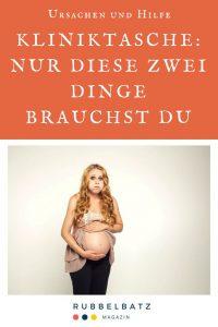 Kliniktasche für die Geburt: Diese 2 Dinge solltest Du nicht vergessen