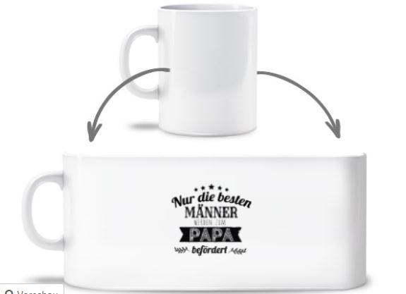 Personalisierte Kaffeetasse für werdende Väter