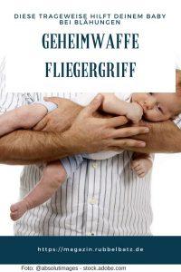 Fliegergriff beim Baby