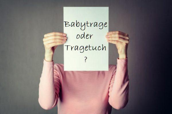 Babytrage oder Tragetuch