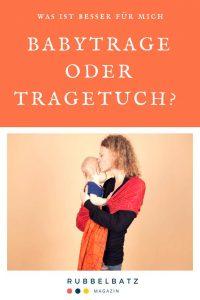 Babytrage oder Tuch? Welche Trageweise passt besser zu mir?