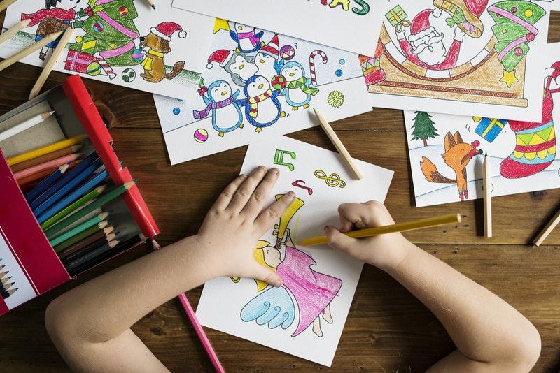 Ausmalbilder für Kleinkinder zum Basteln