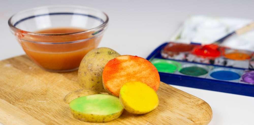 Bastelidee für Kartoffeldruck