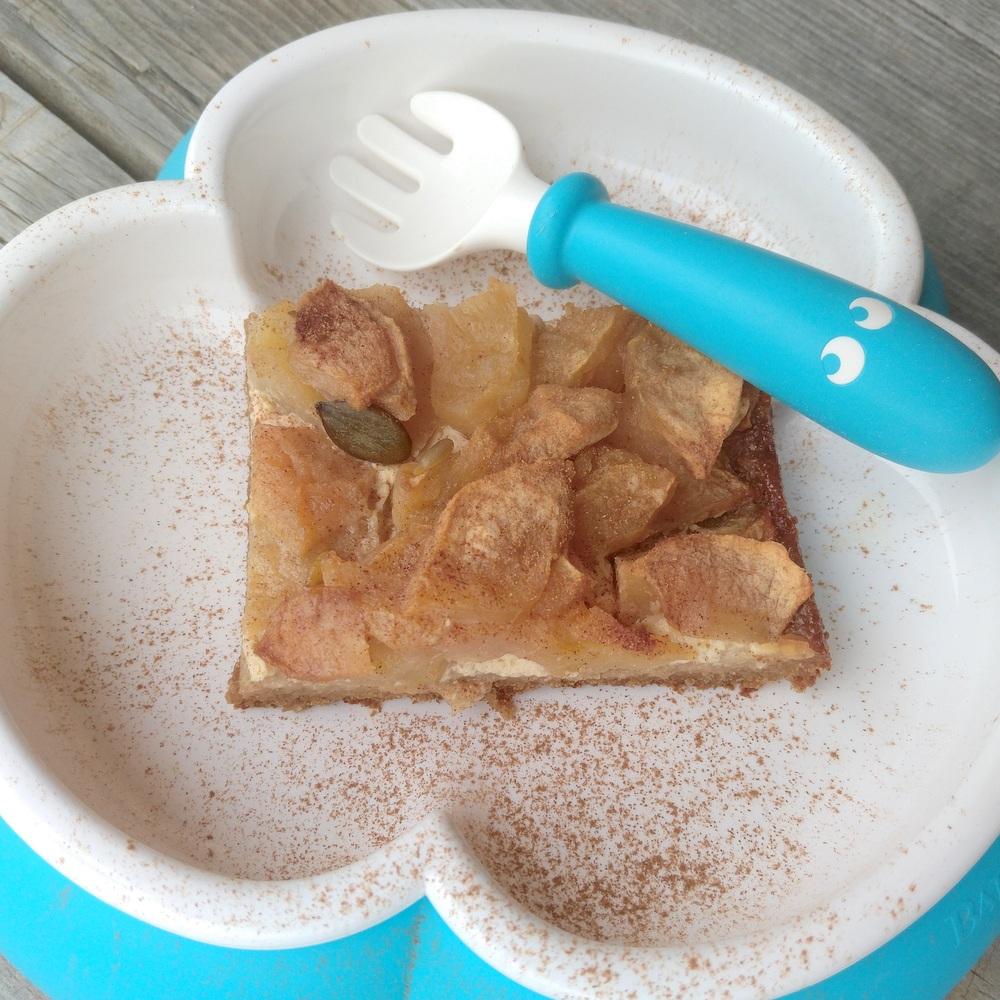 Zuckerfreier Apfelkuchen vom Blech