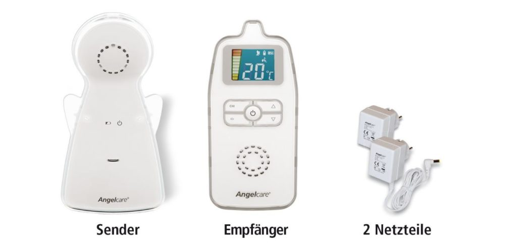 Lieferumfang des Angelcare AC423-D Babyphones