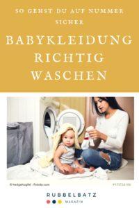 Babykleidung waschen: So wäscht man Babysachen richtig!
