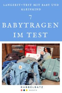 Pinterest-Logo für Babytragen Testbericht