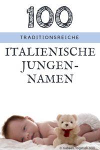 100 beliebte Italienische Vornamen für Jungs