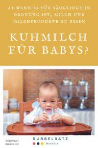 Ab wann dürfen Babys Kuhmilch trinken?
