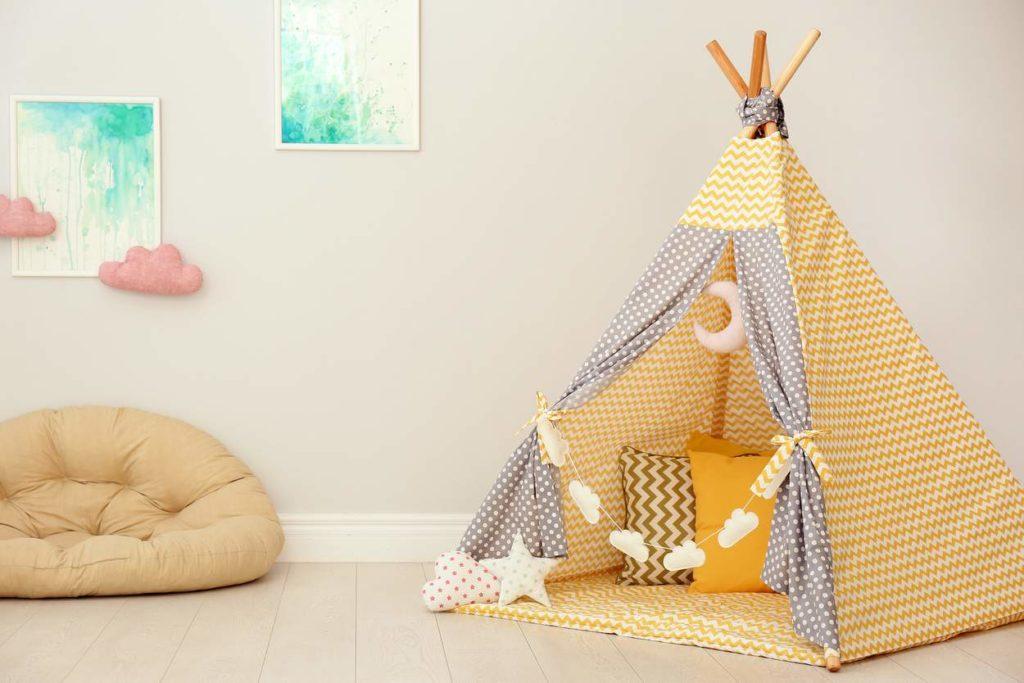 Indianertipi als kreative Gestaltungsidee fürs Kinderzimmer