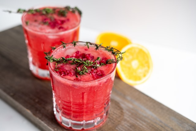 Himbeer Hibiskus Cocktail ohne Alkohol