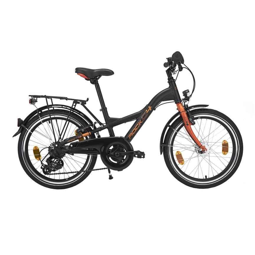 city bike kinderfahrrad 20 zoll d4 rock schwarzorange